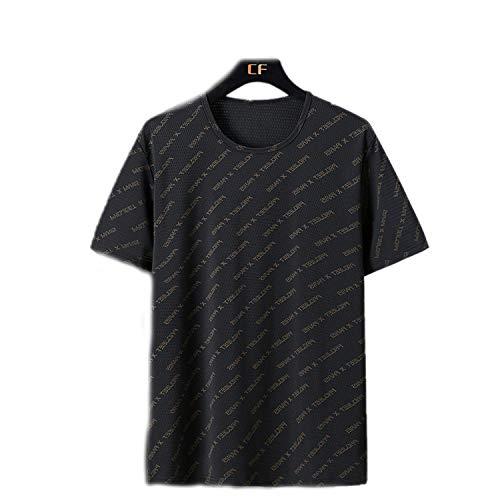 Großes kurzärmeliges T-Shirt männliches Loses T-Shirt-Hot Golden Letter Mesh Kurzarm-4XL
