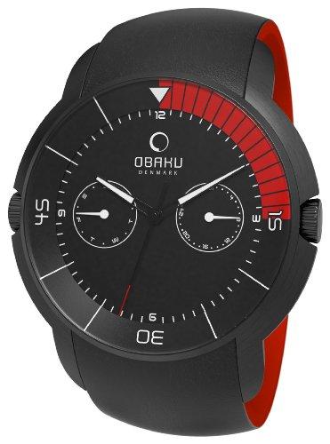Obaku Harmony V141GBBRB - Orologio da polso da uomo, cinturino in pelle colore nero