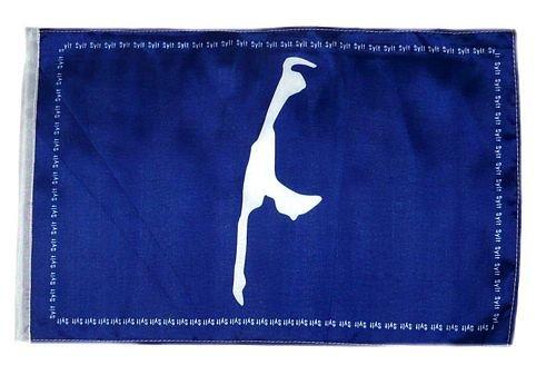 Flagge Fahne Sylt Karte 30 x 45 cm FLAGGENMAE®