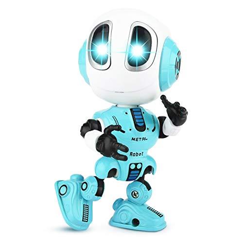 ALLCELE Upgrade der Ladeversion sprechender Roboter Spielzeug für Kinder,Jungen und Mädchen(BLAU)