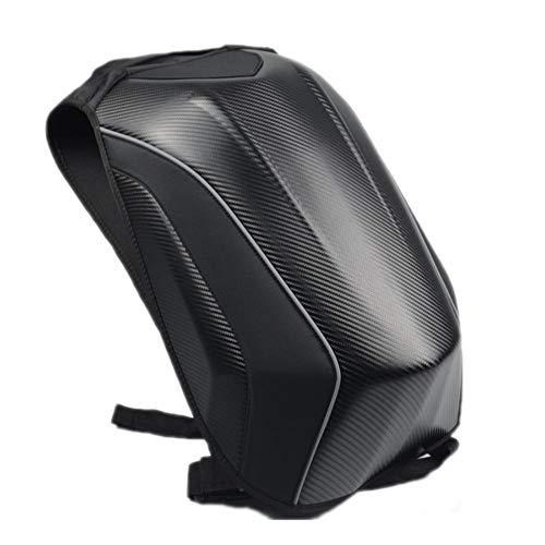 Eruditter Mochila De Moto Estuche Rígido Mochila Patrón De Fibra De Carbono Paquete Impermeable Y Duradero