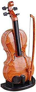 Mini Violin Music Box ,Axier Electronic Replica Musical on Stand Desk Home Decor,Childhood Memories Birthday Gift