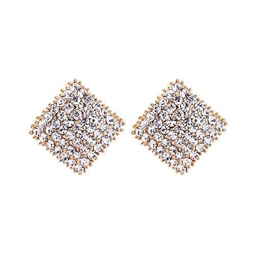 ZLININ Y-longhair - Pendientes para niña con diseño de gota y diamantes geométricos