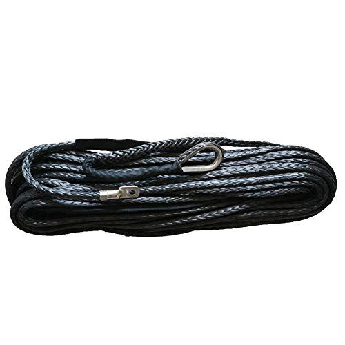 Z&LEI Abschleppseil, Heavy Duty, Geflochtenes synthetische Faser mit Spliced Eye Loops für Notschlepp Bügel (10 mm * 30m),Schwarz