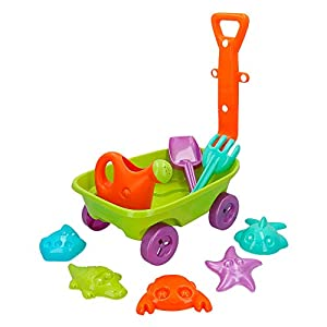 ColorBaby - Set de playa: carretilla 40 cm pala rastrillo(43506)