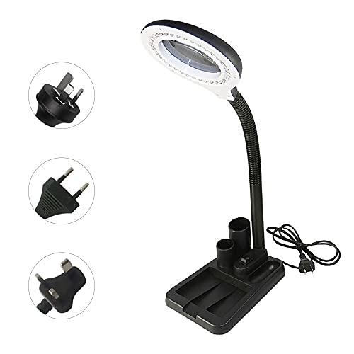 Lámpara Escritorio LED DIRIGIÓ Lámpara de mesa lupa 5 / 10x Lupción lupa iluminada Lámpara Lupa Lampe Oficina DIRIGIÓ Lámpara de escritorio Luz de mesa flexible Luz Lectura (Wattage : UK)
