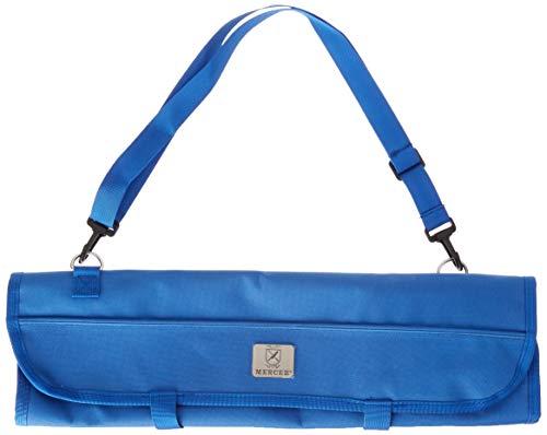 Mercer Culinary 7-Pocket Knife Roll Storage Bag, One Size, Blue