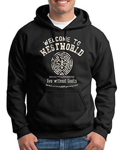 TShirt-People Welcome to Westworld Pull à capuche pour homme - Noir - X-Large