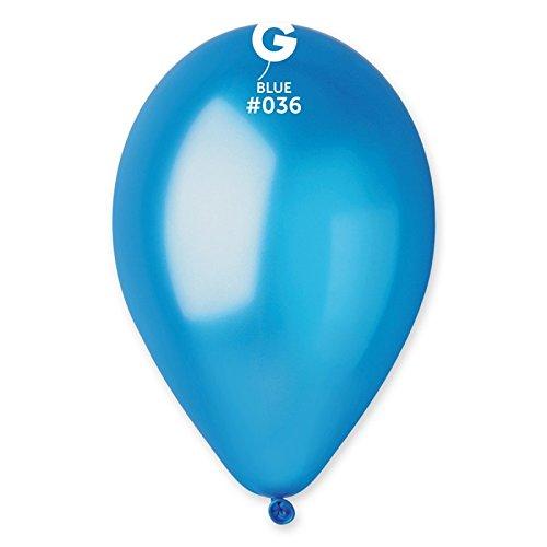Gemar Globos color 36 azul y azul perla 26 cm diámetro 100 unidades puro látex