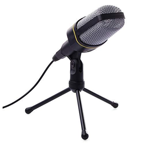 RRYM Micrófonos Micrófono dinámico Micrófono de mesa Micrófono de condensador de micrófono de escritorio con cable de conector de trípode para estudio de grabación