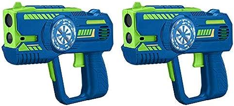 eKids Laser Tag for Kids, Toy Gun Blasters Lights Up and Vibrates, Infrared Laser Battle Games Gift, Indoor Outdoor Toys for Kids Boys Girls Ages 3+, 2 Pack Set, Add Multiple Sets of 4