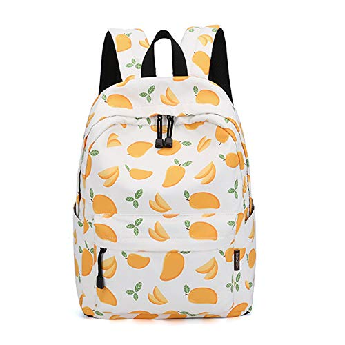 YLLHK Girls Fresh and Simple Schoolbag, Large Capacity Polyester Backpack, Travel Casual Anti-theft Daypack, Suitable for School Outdoor, 40 * 30 * 13CM,Yellow