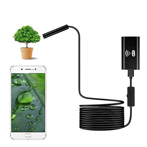 BMZGGIV Portátil 8mm Lente HD 720P WiFi endoscopio cámara Suave Alambre Duro IP67 a Prueba de Agua la cámara USB de Inspección endoscopio for Android iPhone iOS para inspección de vagones de tuberías