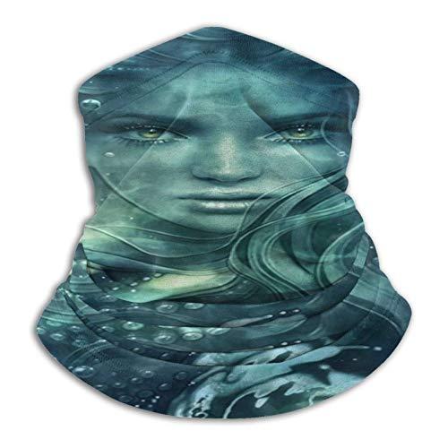 Ives Jean Mermaid Art - Braga elástica para el cuello de microfibra para hombre y mujer