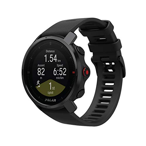 Polar Grit X Outdoor Multisport Watch GPS, Bussola, Altimetro e Robustezza in Linea con lo Standard Militare, Trail Running, Mountain Bike, Batteria di Lunga Durata, Nero, M/L