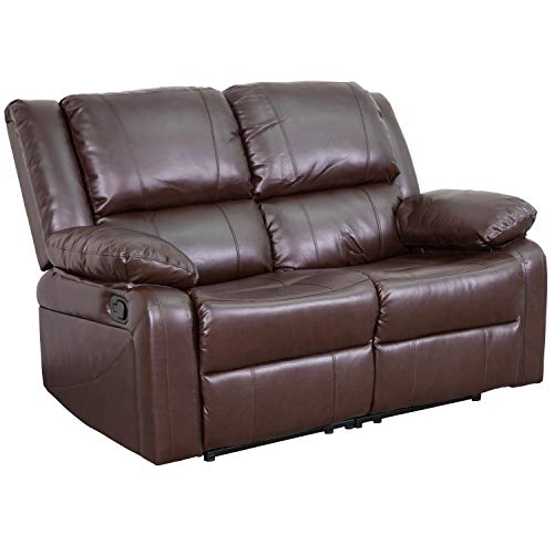 Flash Furniture Leather Recline Loveseat, Brown LeatherSoft
