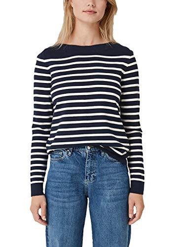 s.Oliver Damen 04.899.61.6000 Pullover, Blau (Navy Stripes 59g0), (Herstellergröße: 40)