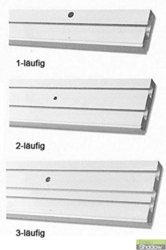 Easy-Shadow–Vorhang Track vorgebohrt für Deckenmontage PVC Kunststoff weiß Länge 100cm–1–Track