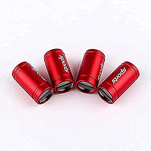AXYP 4pcs Car Tapas para válvulas, para Opel Zafira b Corsa d Insignia Mokka Valve Caps Neumático Impermeable Herrumbre Anti-Polvo Antirrobo con Logo, Coche Interior Estilo Accesorios