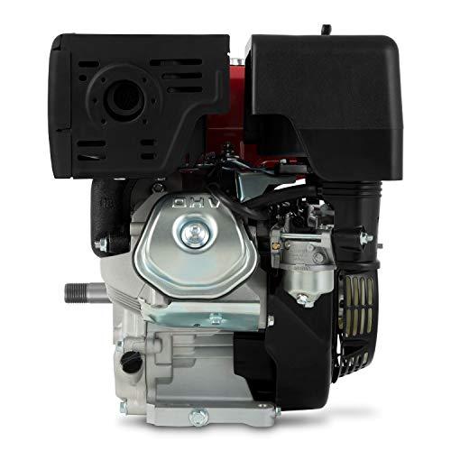 EBERTH 13 CV Moteur à essence thermique (25 mm Arbre, Alarme manque d'huile, 4 Temps, 1 Cylindre, Refroidissement à air, Démarrage via câble)
