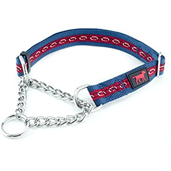 Tuff Pupper Martingale Collar for Dogs is Perfect for Training | No Pull Dog Collar with Adjustable Gentle Nylon & Steel Chain | Convenient Sizing for All Breeds