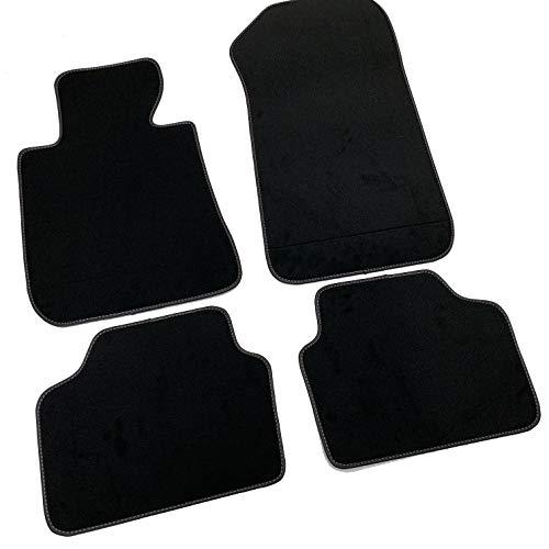 Preisvergleich Produktbild MTC Fußmatten Serie 3 E90-E91 2005-2011 Velours Premium schwarz mit Klettverschluss