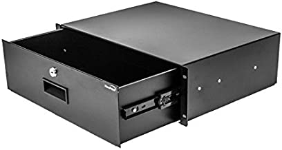 NavePoint Server Cabinet Case 19 Inch Rack Mount DJ Locking Lockable Deep Drawer with Key 3U