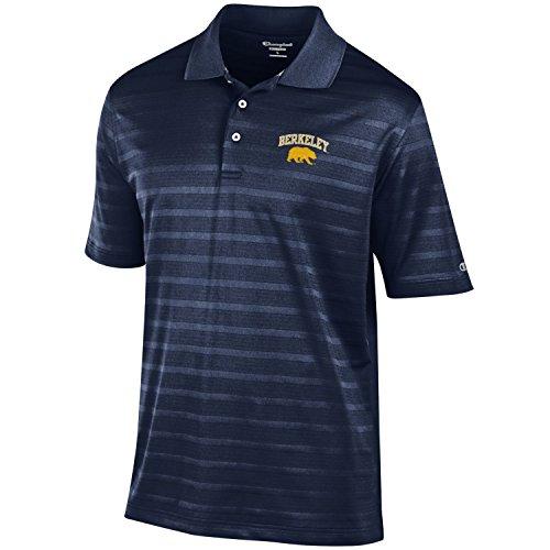 Champion Strukturiertes Poloshirt für Herren, Herren, NCAA Men's Textured Solid Polo, Teamfarbe, Large