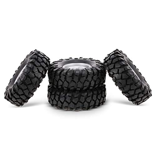Uniqueheart 4 Uds 96mm 1/10 RC camión Buggy Neumático para 1/10 HSP Redcat Traxxas Axial SCX10 D90 CC01 RC Rock Crawler Parts-Sliver