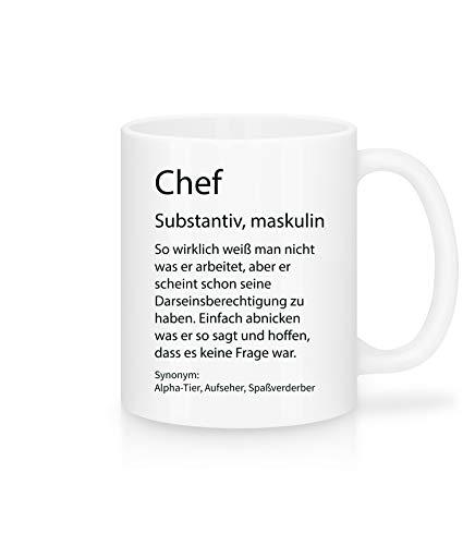 Shirtinator Beruf Definition Chef Geschenk Tasse mit Spruch, Arbeit Kollegen Gag Job witzig Teetasse