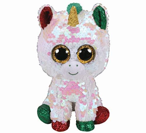 Ty – Flippables – Peluche con Lentejuelas Brillantes Stardust la Unicornio