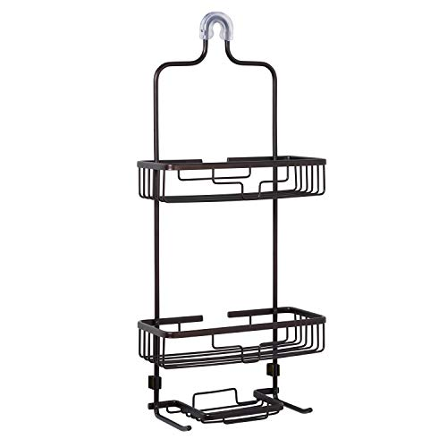 Zenna Home NeverRust Rustproof Aluminum Shower Caddy, Bronze (E7402ALHB)