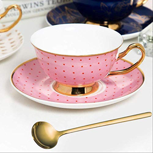 Britischer Stil Knochen China Kaffeetasse Mit Löffel Gold Nachmittag Tee Tasse Untertasse Set Kaffeetasse Set Brautjungfer Geschenk 03