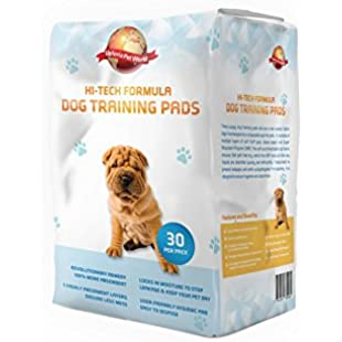 Puppy Training Pads 30-Pack|60cm x 60cm New Super Absorbent Size|This New Unique 5 Layer Solution Protects Laminated Floors Carpets From Smelling|These Are A Heavy Duty Dog Pad|30 Day Guarantee Giving...:Netac2
