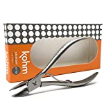 Kohm Toenail Clippers for Thick/Ingrown Nails, Surgical Grade Stainless Steel