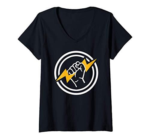 Mujer Flash de electricista Camiseta...