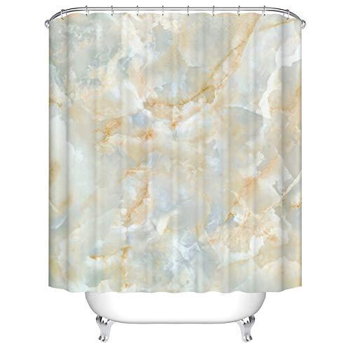 X-Labor Marmor Duschvorhang Anti-Schimmel Wasserabweisend inkl. 12 Duschvorhangringe Badewannevorhang für Badezimmer Bunt 180x200cm