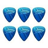 Great White Shark Realistic Novelty Guitar Picks Medium Gauge - Set of 6