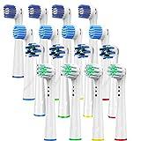 Dealswin ブラウン オーラルB 電動歯ブラシ 用の 替えブラシ 4種類が入り: マルチアクションブラシ EB50, ベーシックブラシ EB20, 柔らかい ベーシックブラシ EB17, やわらか極細毛ブラシ EB60 凡用な16本
