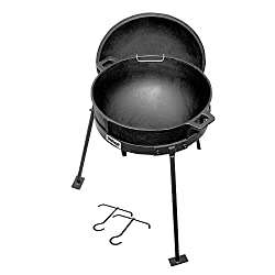 commercial Bayeux Classic Jambalaya Cast Iron Pot 5 gallons, with lid and stand, black the and affordable cocotte