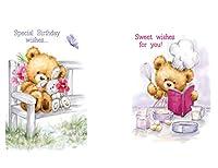 アート用Sake–36Bear 's Celebrating Life 's–特別な瞬間誕生日カード–6Designs–bbppk01flast6