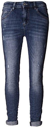 Basic.de Damen-Hose Skinny mit Kontraststreifen aus Metall-Perlen Melly & CO 8166 Jeans XL