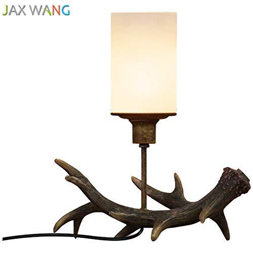 5151BuyWorld lamp imitatie gewei bureaulamp Loft topkwaliteit American Retro industriële kunst creatieve houten tafellampen moderne inrichting bureau lampen