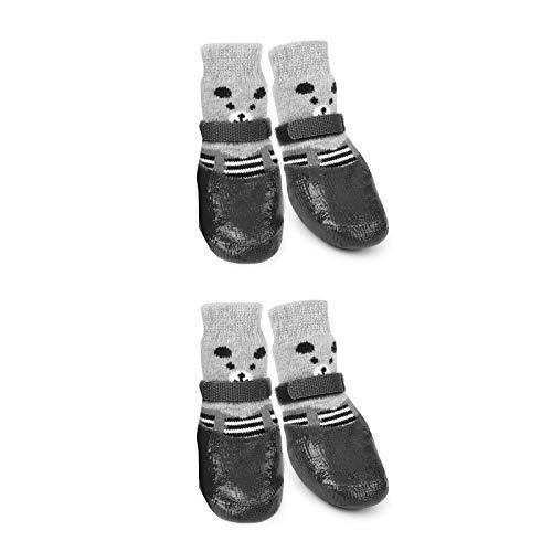 HUI JIN 4 calcetines para perro para mascotas, impermeables, antideslizantes, protectores de patas para interiores y exteriores.