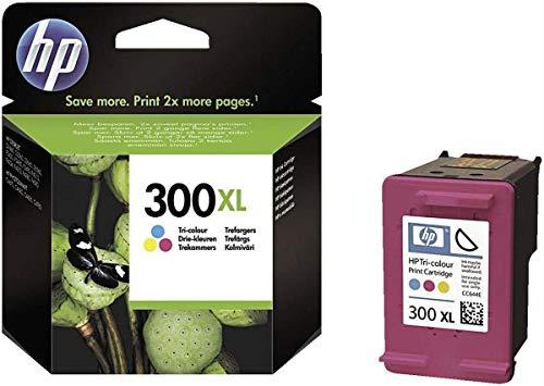 HP CC644EE 300XL Cartucho de Tinta Original de alto rendimiento, 1 unidad, tricolor (cian, magenta, amarillo)