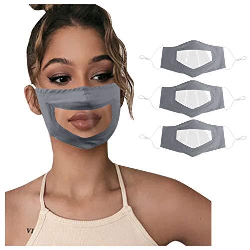 PPangUDing Mundschutz mit Motiv Waschbar Baumwolle Wiederverwendbar Atmungsaktive Staubdicht Mund und Nasenschutz Transparent Halstuch Bandana Schlauchschal für Damen Herren