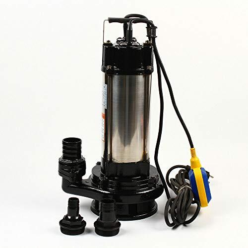 Wangkangyi Bomba de agua sumergible KG-036 36000 l/h, 1500 W, acero inoxidable, bomba de agua para aguas residuales con flotador, bomba de agua para ciudad de alta calidad