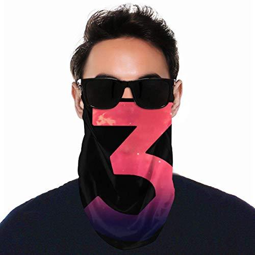 YUIT 3D Print Bandanas Schutzreitkopfbedeckung Winddichte Sturmhauben Gesicht Bandana Schal Sonne UV Staubschutz Chance Das Rapper Logo