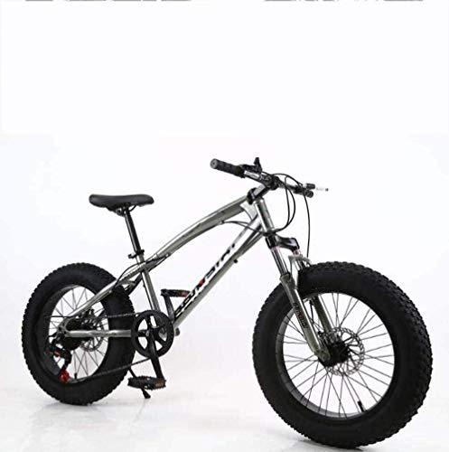 BMX Fat Tire Bicicletas de montaña for Hombre, Marco Doble Freno de Disco de Acero de Alto Carbono/Bicicletas Cruiser, Playa de Motos de Nieve Bicicletas, 26 Pulgadas Ruedas 5-25