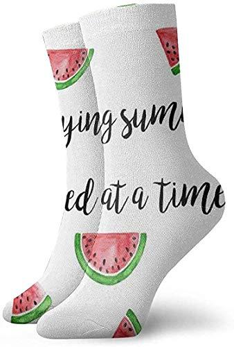Felsiago Genießen Sommer Wassermelonenmuster Erwachsene kurze Socken Baumwolle Fun Socken für Herren Frauen Yoga Wandern Radfahren Laufen Fußball Sport